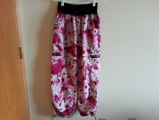 ZUMBA white & fuschia pants - womens medium