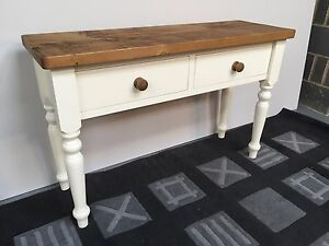 Medium Rustic Solid Wood Console Table With 2 Drawers (can be made any size)