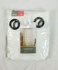 "JCP Home White Bayview Embroidery Sheer Grommet-Top Curtain Panel, 50""x72"""