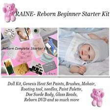 Reborn baby RAINE Complete Starter Beginner Kit, Genesis paints, Mohair, Doll