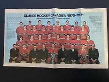 1971-72 OPC Montreal Canadians poster #24 Very Rare