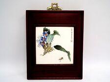 DECORATIVE FRAMED TILE- GOOD FRIENDS Pottery Art Singapore - N22