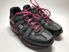 Skechers Resistance SFT Shape Ups Black Pink Sneakers Rocker Toning Women's 6.5