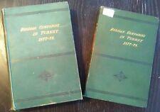 GREENE.  ...RUSSIAN ARMY CAMPAIGNS In TURKEY 1877-78. Appleton. 2 Vols w/ Atlas