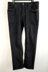 PRANA Charcoal Wash SLIM BRIDGER Jeans 5-Pocket Casual Activewear Mens 33 X 30