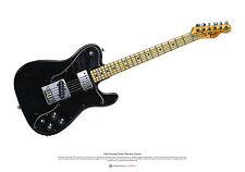 Keith Richards's Fender Telecaster Custom arte cartel A2 Tamaño