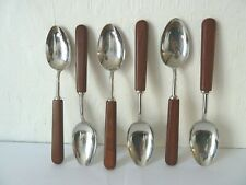 6 x 'New Approach' Sandersons Dessert Spoons c1960's Designed by C.Melville Cass