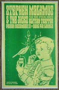 STEPHEN MALKMUS PAVEMENT Gig POSTER Dec. 2007 Portland Oregon Concert