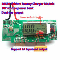 5V 1A 2A Dual USB LCD li-ion Lithium 18650 Battery Charger Module DIY Power Bank