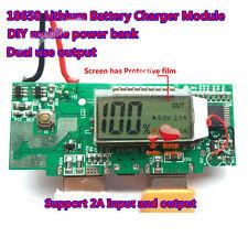 5V 1A 2A Dual USB LCD li-ion Lithium 18650 Battery Charger Module DIY Power Bank