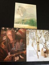 """3- 8"""" X 10"""" Native American Sayings Picture Prints In Litho by Dealer"""