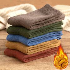 Winter Thicken Plus Fleece Men Socks Warm Cotton Terry Socks Outdoor Stockings