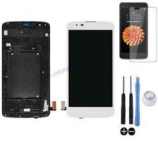 ECRAN LCD + VITRE TACTILE SUR CHASSIS BLOC COMPLET POUR LG K8 K350N DUAL BLANC