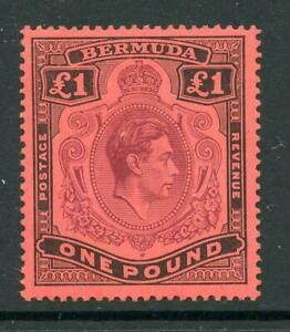 Bermuda 1938-53 £1  MM