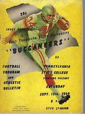 NP-166 TN Johnson City ETSU vs Penn State Football Program 1964 Coca-Cola