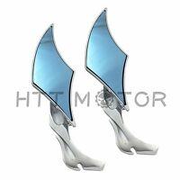 Chrome 8MM 10MM flame twisted diamond Rear View Mirrors For Cruiser Chopper