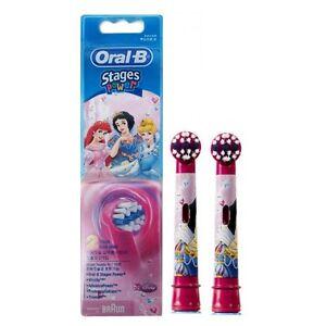 X2 (4pcs) Braun [ORAL-B] EB10 Disney Princess Toothbrush Replacement BrushHead
