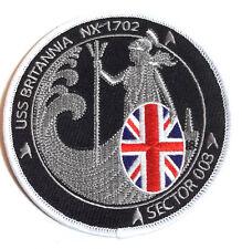 "Star Trek USS Britannia NX-1702 Logo  4"" Uniform Patch-Sector 003 (STPAT-ENT-6)"