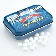 ANTI-SNORING Mints in a tin Sugar free Fun travel gift New & sealed