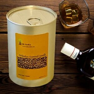 WHISKEY SCENTED PILLAR CANDLE FATHER'S DAY (LIMITED EDITION) OAK CANDLES