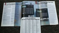 "BOSS / Roland DR-660 ""Dr. Rhythm""  Sales Dealer Trade Brochure Drum Synthesizer"