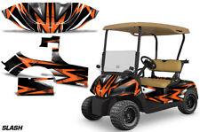 Golf Cart Graphics Kit Decal Sticker Wrap For E-Z-Go RXV 2008-2015 SLASH ORG BLK