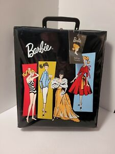 Barbie Doll Travel Case 2002 Reproduction Soft Black Vinyl With Tag