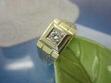 HERREN RING 585 Gold / Brillant 0,25 ct.G/VVS / Gr.67 (21,4 mm) / 5,50 Gramm