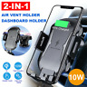 Qi Auto Wireless Car Charger Fast Charging Mount Clamping Air Vent Phone Holder