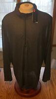 NWT Men's Under Armour 1/4 Zip Loose Fit Long Sleeve Shirt Black Size: 4XL