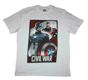 Mens Marvel Captain America Civil War T-Shirt. Available In Large Only