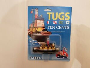 ERTL TUGS / TUGBOAT - TEN CENTS  TUG BOAT RARE NEW AND SEALED 1989 DIECAST