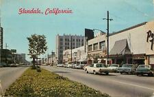 USA California glendale city street view cars Postcard