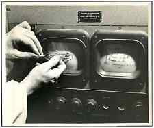 Dr. Feitelberg measures the deflection of a cathode ray beam  Vintage . Mount Si
