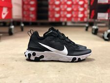 Nike React Element 55 Mens Running Shoe Black/White BQ6166-003 NEW Multi Sizes