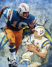 San Diego/ L.A. Chargers Lithograph print of Lance Alworth