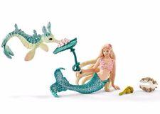 NEW Schleich Michelle Fantasy Fairy 70555 Elves Mermaid + Miniki sea Horse ++