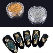Mini Cavlar Perlen Silber Gold Kristall 3D Micro Ball Nail Art Dekoration BC