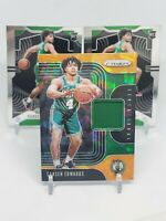 (x3) 2019-20 Prizm Carsen Edwards RC, Orange Ice Relic + 2 Base Lot, Celtics