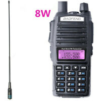 Baofeng UV-82 Real 8W Walkie Talkie Dual Band VHF/UHF Radio NA-771 SMA-F Antenna