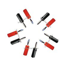 5pcs red and 5pcs 4mm black Banana Plug Speaker Connector 38mm New