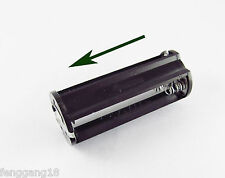 5pcs Black Cylindrical 3 Aaa Plastic Battery Holder Case Box For Flashlight Lamp
