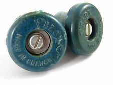 Velox handlebar Plugs Rubber Screw Type *Teal Blue Bicycle 1 Set NOS