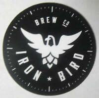 IRON BIRD BREWING CO. Beer STICKER Label with HOPBIRD, Colorado Springs COLORADO