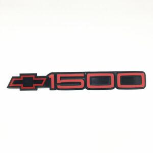 88-98 Chevrolet Red Black 1500 Door Emblem Nameplate Tahoe Blazer Suburban 454ss