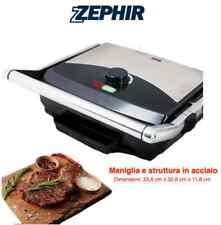 ZEPHIR Piastra Bistecchiera elettrica 2000W Antiaderente Tostapane Gril Sandwich