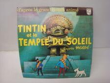 Grand carton publicitaire PLV pour disque philips Tintin et le temple du soleil