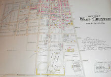 SOUTH WARD of WEST CHESTER CHESTER COUNTY 1883 LARGE COLOR MAP DEAN / PRICE St.