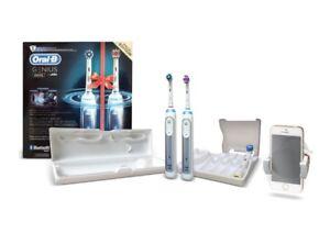 BRAUN Oral-B Genius 8900 *TWO HANDLES* Smart BLUETOOTH Electric Toothbrush NEW