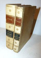 Dumas Alexandre : 4 Opere - Bruxelles 1838  2 voll. Pergamena Capitaine Pamphile